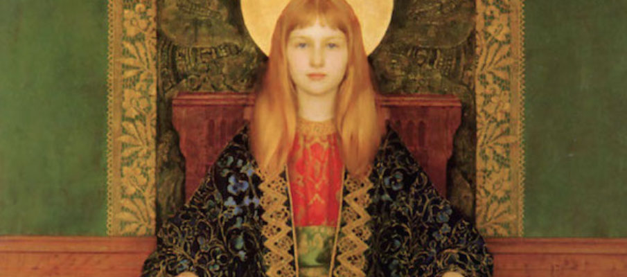 Thomas Cooper Gotch The Child Enthroned